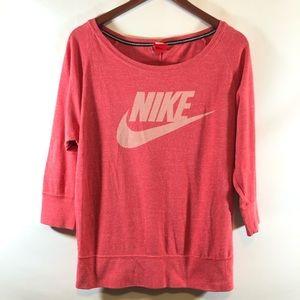 Nike scoop neck pink sweatshirt sz M